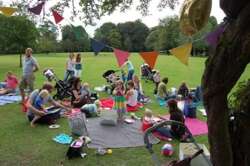 Public park orgy