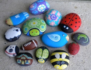 pebble painting Cheap Things to do at Home with the Kids