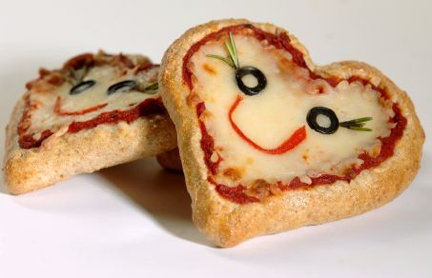 Heart Shaped Pizza Faces
