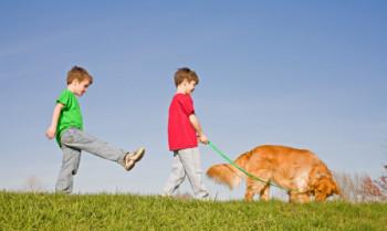 kids walking dog e1442843618632 Should I Get a Dog?